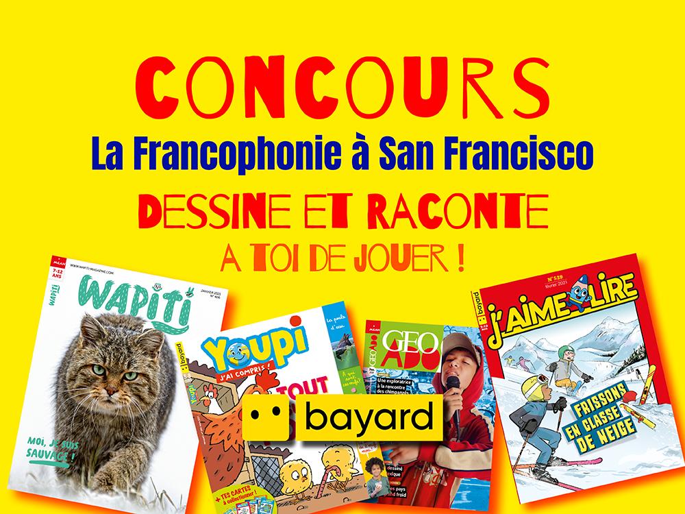 Concours – La Francophonie à San Francisco avec Bayard-Milan !
