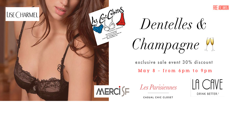 Mother's Day – French Lingerie and Champagne (Free event)