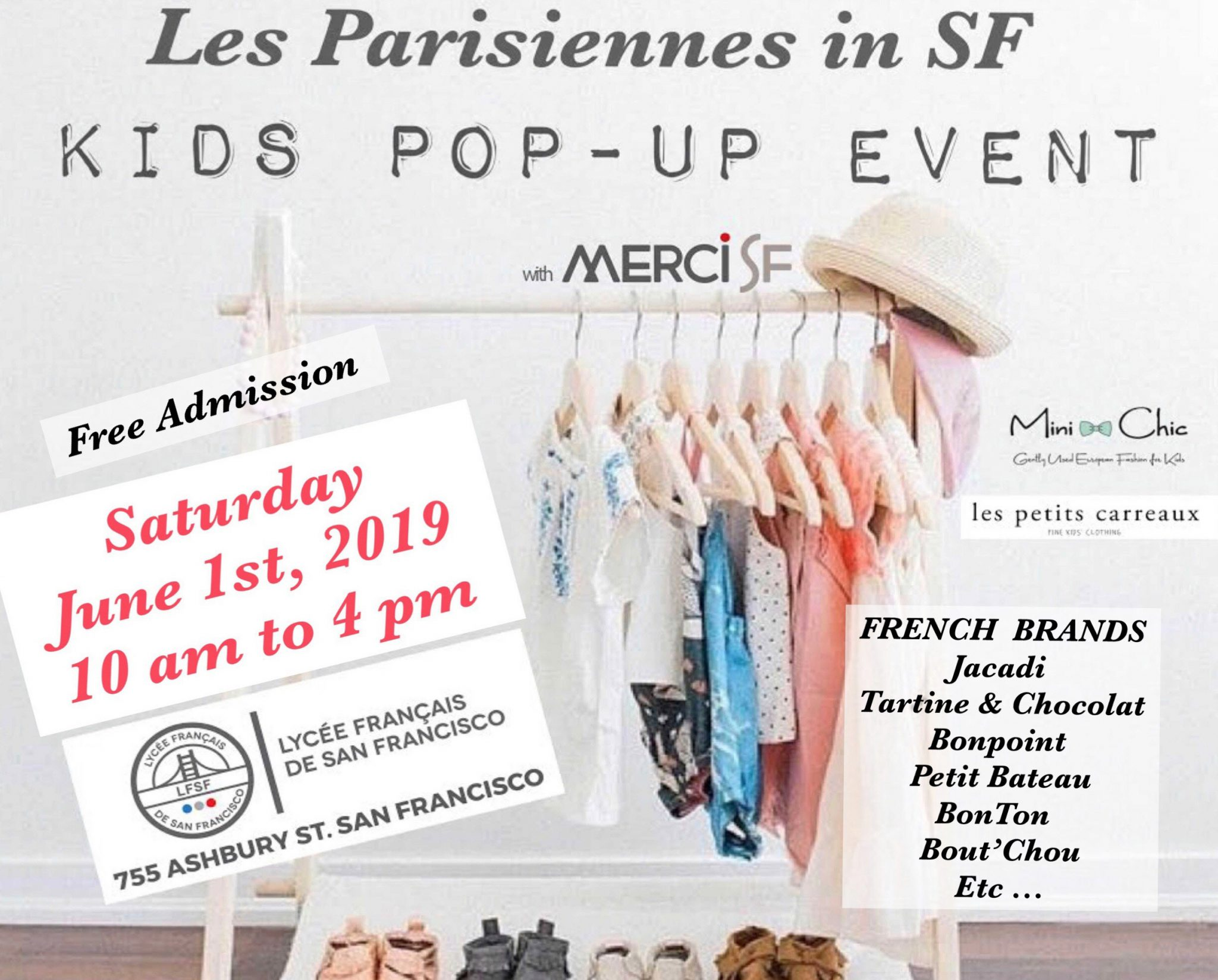 Pop-up event for second-hand kids clothing and more… free event on June 1st