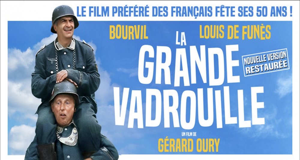 La Grande Vadrouille, a 1961 comedy that topped +17 million cinema admissions