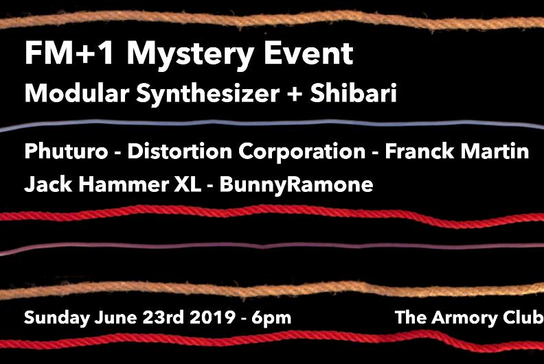 Electro – Soirée FM+1 Mystery – Modular Synthesizer + Shibari