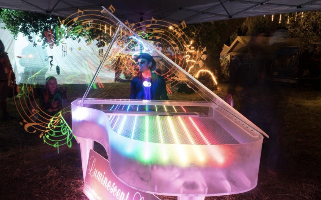 Flower Piano Festival: outdoor festival in San Francisco Botanical Garden