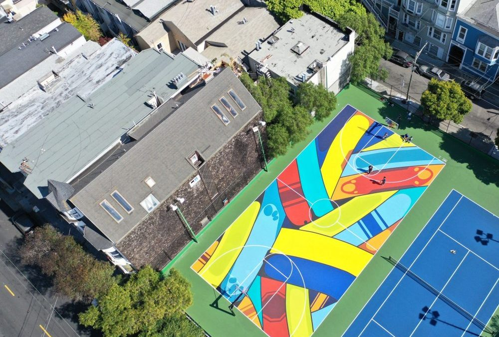 The Most Colorful Basketball Court in San Francisco