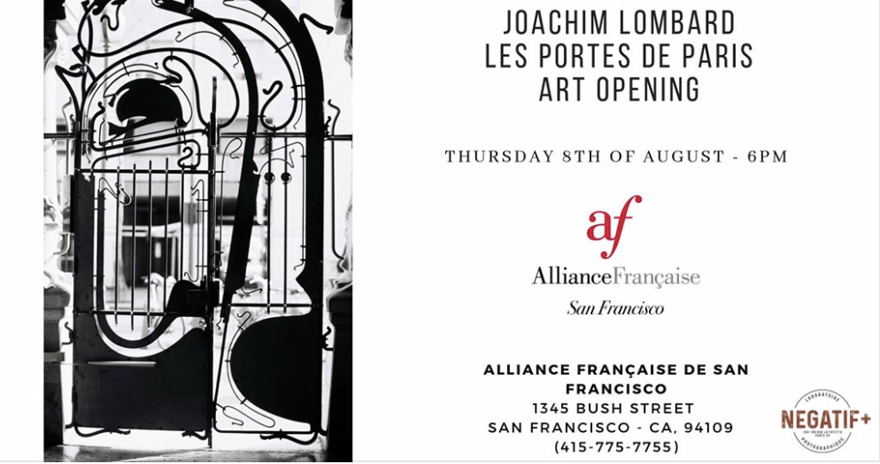"Art Opening ""The Doors of Paris"" by Joachim Lombard at Alliance Française de SF"