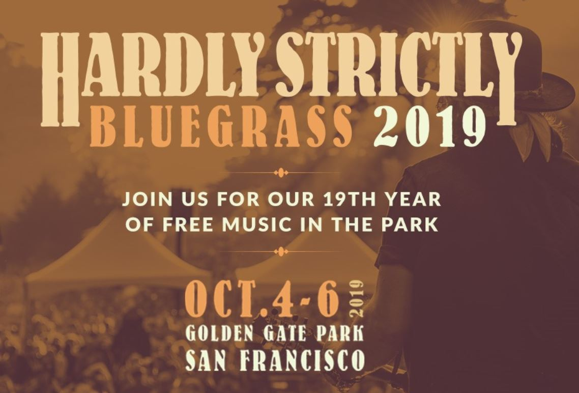 Hardly Strictly Bluegrass Festival is back on October 4th-6th, Golden Gate Park