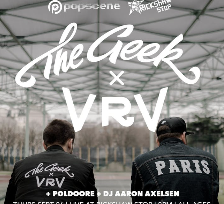 Concert – The Geek x VRV + Poldoore at Rickshaw Stop, 4 tickets to win