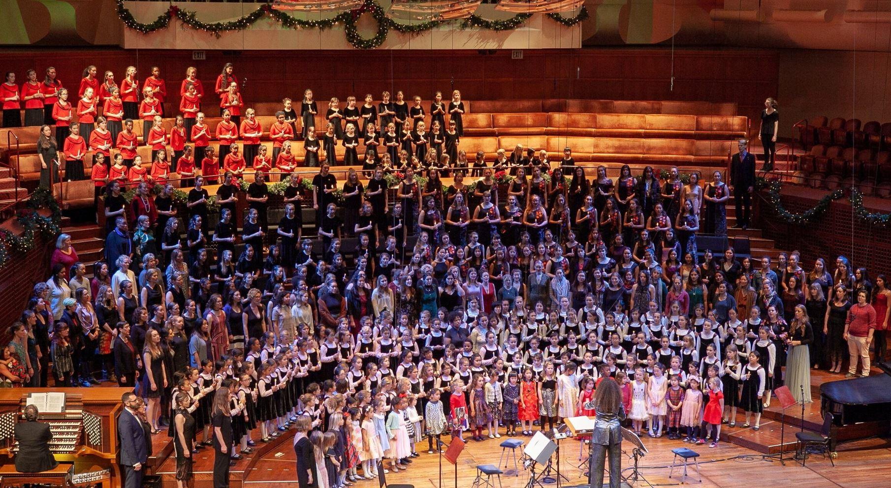 San Francisco Girls Chorus au Davies Symphony Hall pour les Chants de Noël