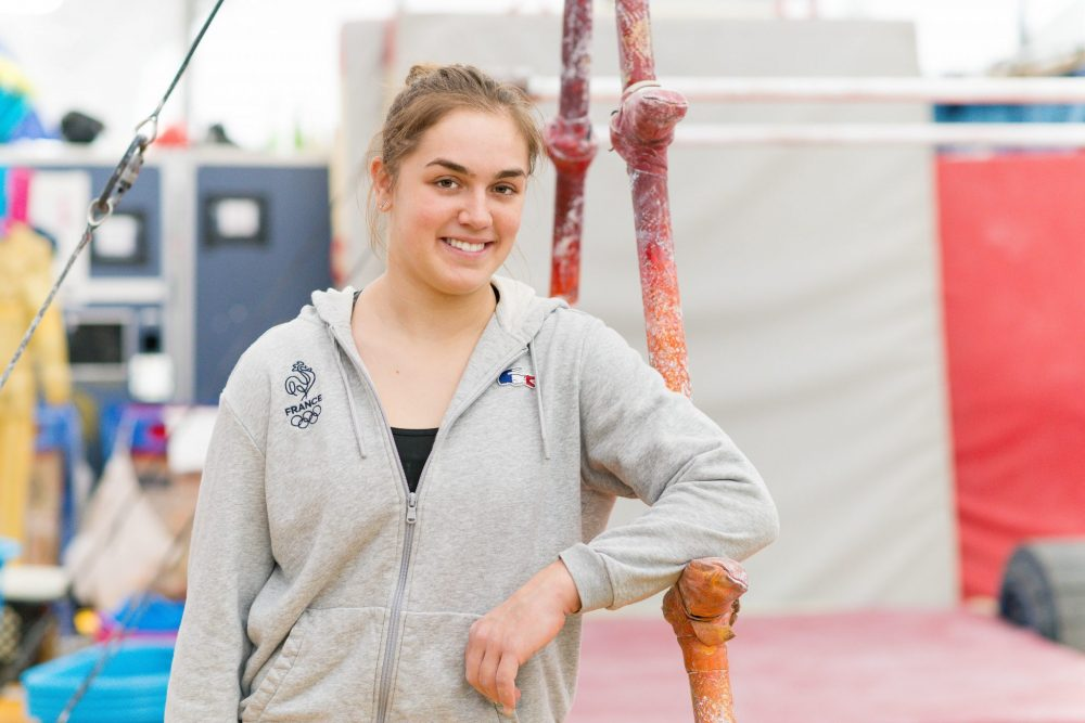 Backstage at Cirque du Soleil with French gymnast Louise Vanhille