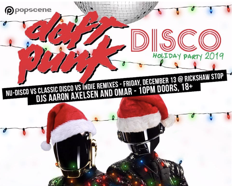 Daft Punk Disco Holiday Party at the Rickshaw Stop