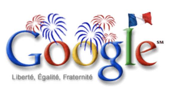 google doodle Bastille day