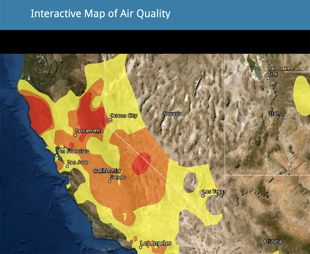 Air Quality, Fire Trackers Apps and Websites