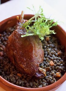 duck confit French food