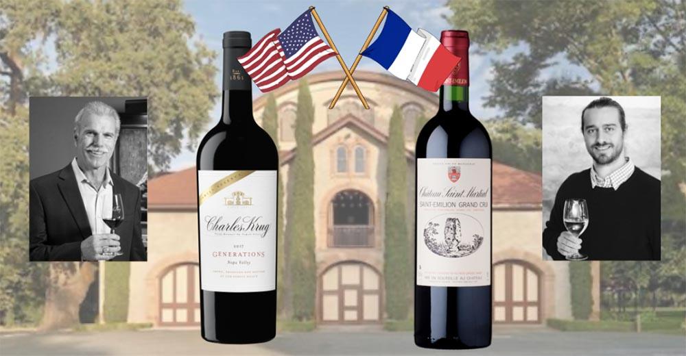 Dégustation entre un vin de Bordeaux et un vin de Napa