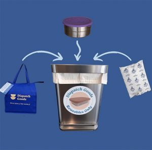 take out single-use containers