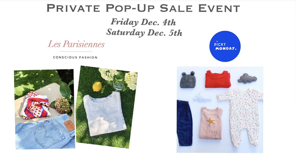 Vente Pop-Up Les Parisiennes in SF