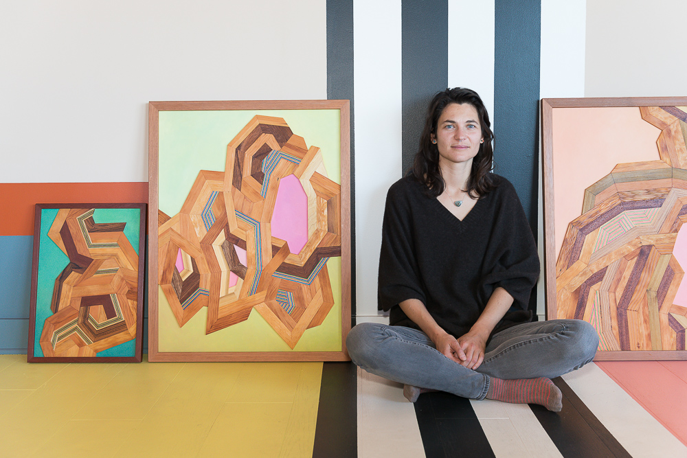 Alexandra Cicorschi @VillaSF, the Artist who Paints with Wood