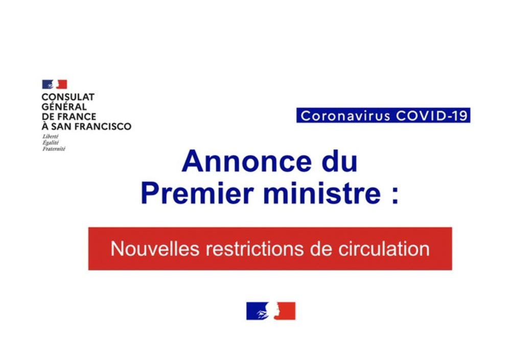 Update Covid-19: New travel restrictions to France