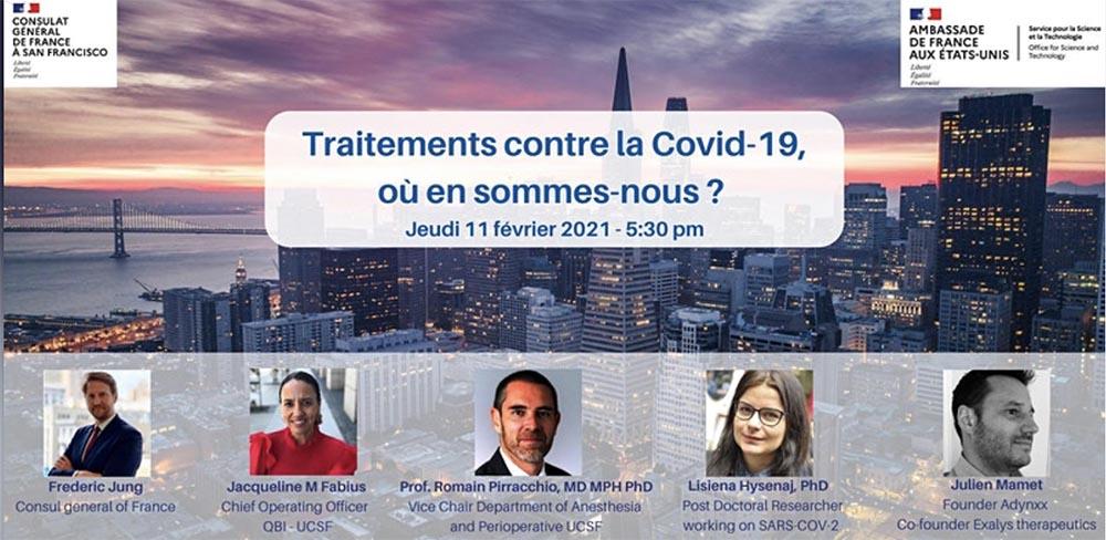 Traitements contre la COVID-19 , le point sur les recherches avec le Consulat