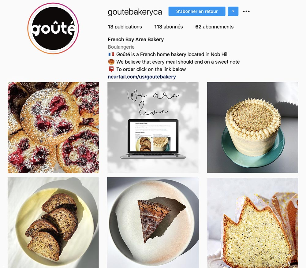 Goûté Bakery: the new French home-bakery launches on Instagram