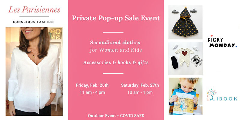 Pop-up Sale: French Second-Hand Clothing (women & kids)