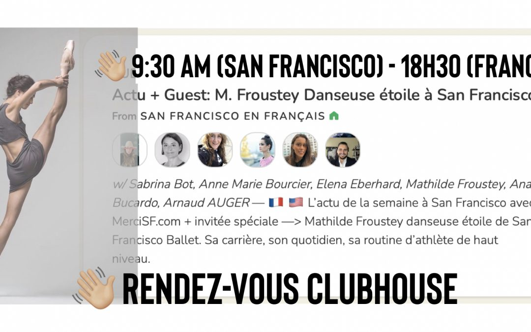 In conversation with Mathilde Froustey on Clubhouse 9:30am (San Francisco)