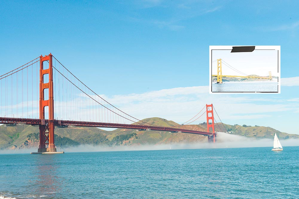 San Francisco will repaint the Golden Gate Bridge in Gold Color