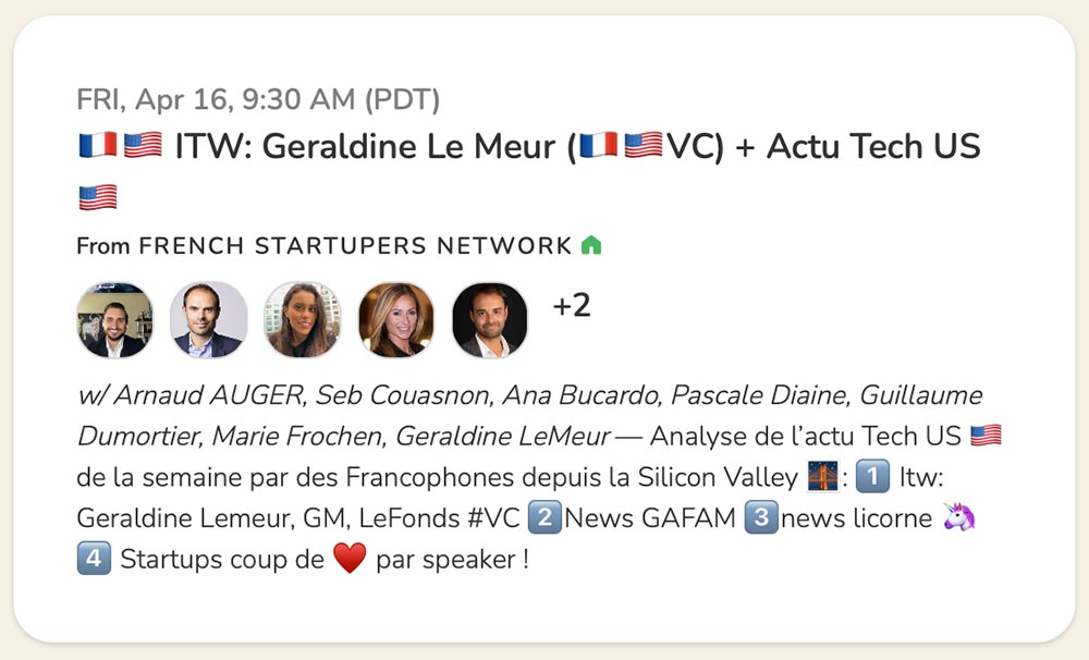 Geraldine Lemeur interviewed by Arnaud Auger on Clubhouse