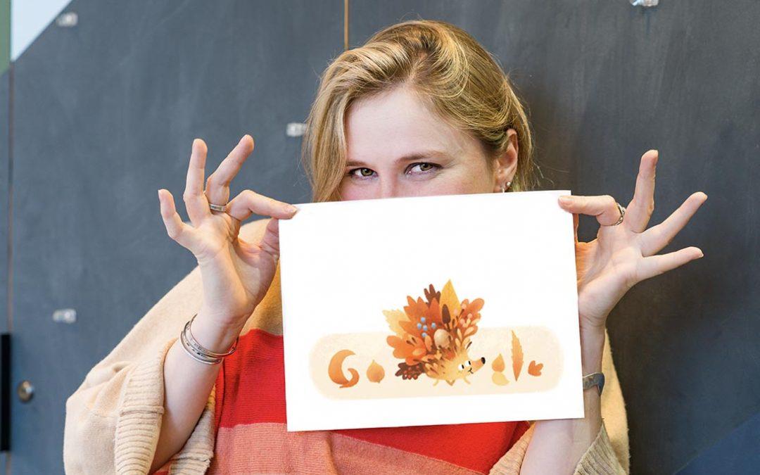 Fall 2021: Hélène Leroux Designs International Fall Google Doodle